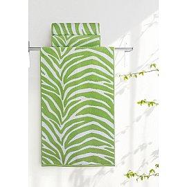 "Полотенце ""Aquarelle Мадагаскар зебра"", белый, травяной"