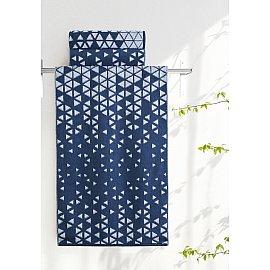 "Полотенце ""Aquarelle Орион-1"", белый и темно-синий, 35*70 см"