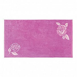 """Полотенце """"Aquarelle Розы-1"""", нежно-розовый, орхидея, 50*90 см"""
