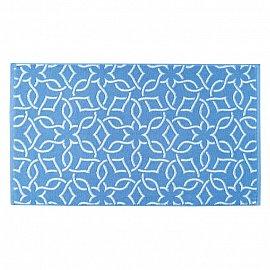 """Полотенце """"Aquarelle Стамбул"""", белый, спокойный синий, 50*90 см"""