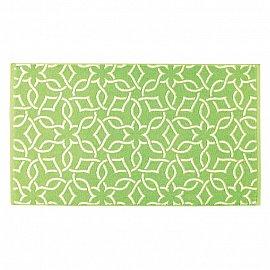 """Полотенце """"Aquarelle Стамбул"""", белый, травяной, 35*70 см"""