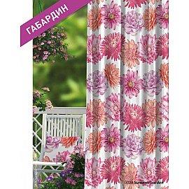 Шторы Прованс Габардин Summer Garden, розовый, красный