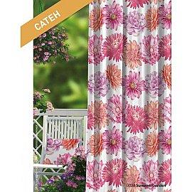 Шторы Прованс Сатен Summer Garden, розовый, красный