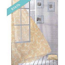 Комплект штор Лофт Вуаль Tropics, коричневый