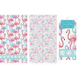 """Набор вафельных полотенец """"Фламинго"""", 40*70 см - 2 шт"""