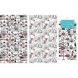 """Набор вафельных полотенец """"Коты"""", 40*70 см - 2 шт"""