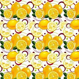 """Полотенце вафельное """"Лимоны"""", 40*70 см"""