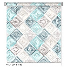"""Рулонная штора ролло """"Geometric"""", дизайн 0104, 60 см"""