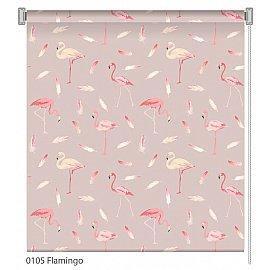 """Рулонная штора ролло """"Flamingo"""", дизайн 0105, 60 см"""