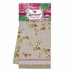 Комплект полотенец вафельных 50*70 (3шт) 'Романтика' Английский сад