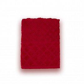 Полотенце махровое 'Романтика', Рахат-лукум 50*90 см, бордовый