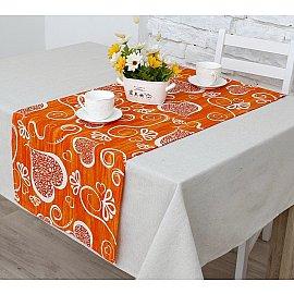 """Дорожка на стол """"Амур""""-2н, оранжевый"""