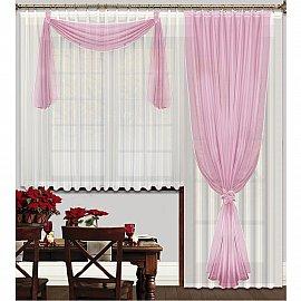 """Шторы """"Герда"""", розовый, 270 см"""