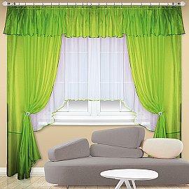 """Шторы """"Клавдия"""", ярко-зеленый"""