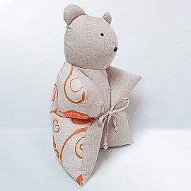 """Декоративная подушка """"Мишка"""", оранжевый"""