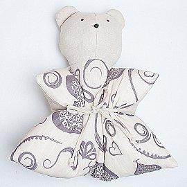 """Декоративная подушка """"Мишка"""", с рисунком, серый"""