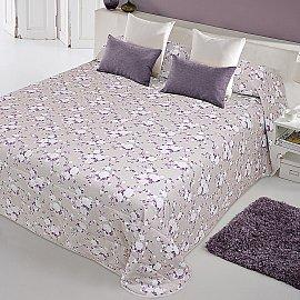 """Покрывало  """"Доминика-240"""", фиолетовые цветы"""