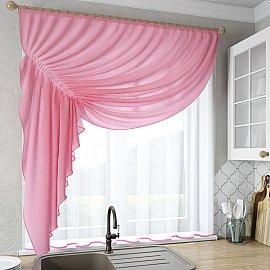 """Шторы """"Ромео"""", розовый, левая"""