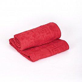 """Полотенце махровое """"Арк Ашхабад"""" греческий бордюр, красный, 50*90 см"""