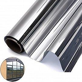 Светоотражающая статическая оконная пленка ТМ5-Т01-S90, серебро