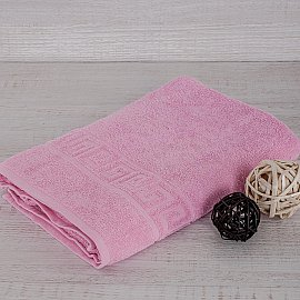 """Полотенце махровое """"Арк Ашхабад"""" греческий бордюр, розовый, 40*70 см"""