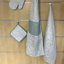 Комплект кухонных полотенец Arya Kitchen Line Retro (50*70 см), голубой
