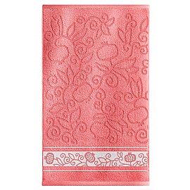 Полотенце махровое Sole Mio Гранаты, коралловый, 35*55 см