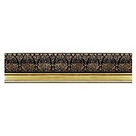 """Карниз потолочный багетный """"Премьер"""", 3 ряда, золото, 340 см"""