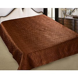 Покрывало шелк Premium №12, коричневый, 200*220 см