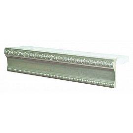 """Карниз потолочный багетный """"Прованс"""", 3 ряда, белое золото, 200 см"""