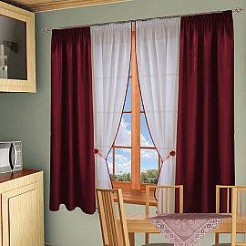 Комплект штор №054 Бордо