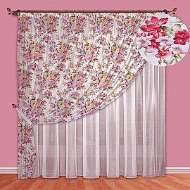 Комплект штор №088 Сиреневый