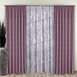 Комплект штор №110 Розово-лавандовый