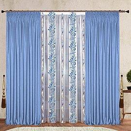 Комплект штор №124 Небесно-голубой