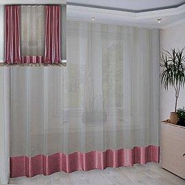 Занавеска №3-02, розовый, 280*270 см