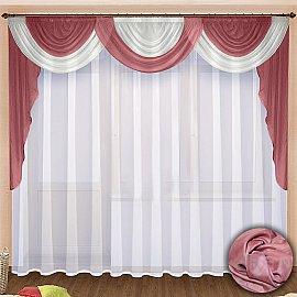 Комплект штор №021 Брусника