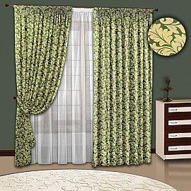 Комплект штор №108 Зеленый