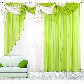 """Шторы """"Бриз"""", ярко-зеленый"""