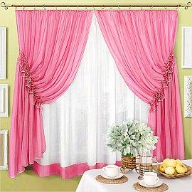 """Шторы """"Луиза"""", розовый"""
