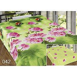 Покрывало Шарм №042, салатовый, розовый, 220*240 см