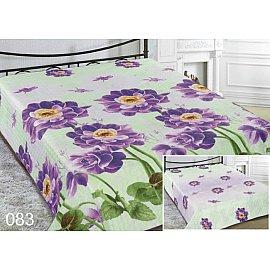 Покрывало Шарм №083, салатовый, фиолетовый, 200*220 см