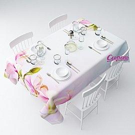 """Скатерть """"Розовые бутоны"""", 120*145 см"""
