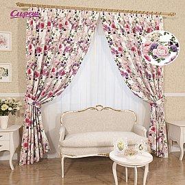 """Комплект штор """"Юдиана"""", розовый, фиолетовый, 260 см"""