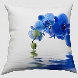 """Декоративная подушка блэкаут """"Синяя орхидея"""""""