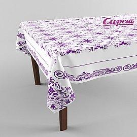"""Скатерть 3D """"Фиолетовый узор"""", фиолетовая"""