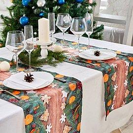 """Дорожка на стол """"Апельсин и пряники"""", 40*140 см"""
