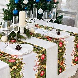 """Дорожка на стол """"Новогодние украшения"""", 40*140 см"""