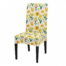 """Чехол на стул универсальный """"Нарциссы и бабочки"""""""