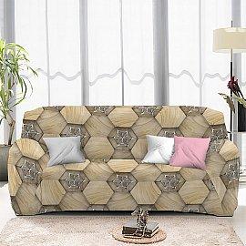 Чехол на диван четырехместный ЧХТР046-13327, 240-290 см
