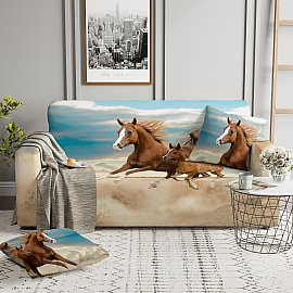 Чехол на диван четырехместный ЧХТР046-13531, 240-290 см